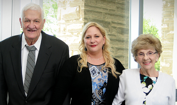 Kim Dunbar photographed with members of the Alfred P. Sloan Foundation